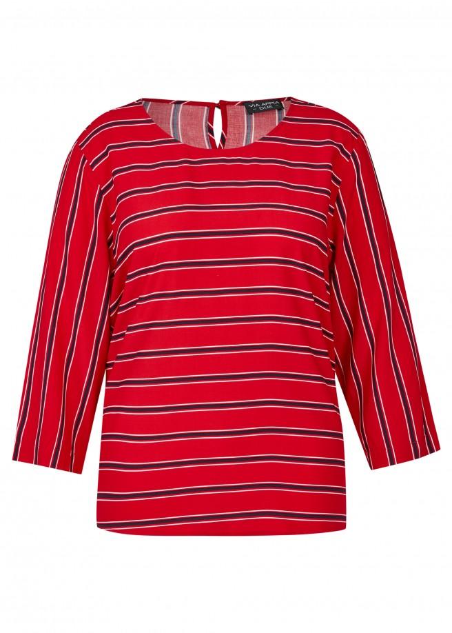 Luftige Bluse mit Streifen-Muster /