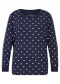 Süßes Sweatshirt mit Pünktchen-Muster /