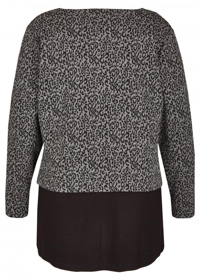 Feminines Sweatshirt im 2-in-1-Design /