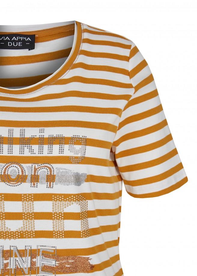 Fesches T-Shirt mit Glitzersteinen /