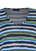Modisches T-Shirt mit geringeltem, buntem Allover-Muster /