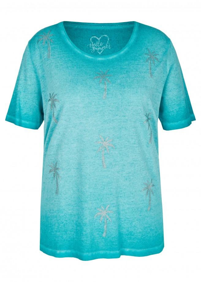 Feminines T-Shirt mit Glitzer-Print /
