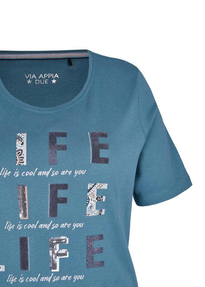 Verspieltes T-Shirt mit Glitzerdetails /