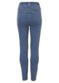 Feminine Slim-fit-Jeans in unifarbenem Design /
