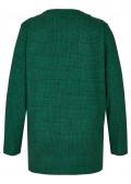 Flauschiges Sweatshirt mit Stehkragen /