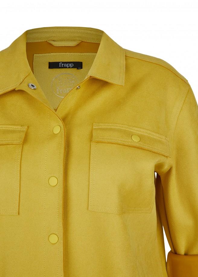 """Trendy Jeansjacke """"Golden Yellow"""" mit Druckknöpfen /"""