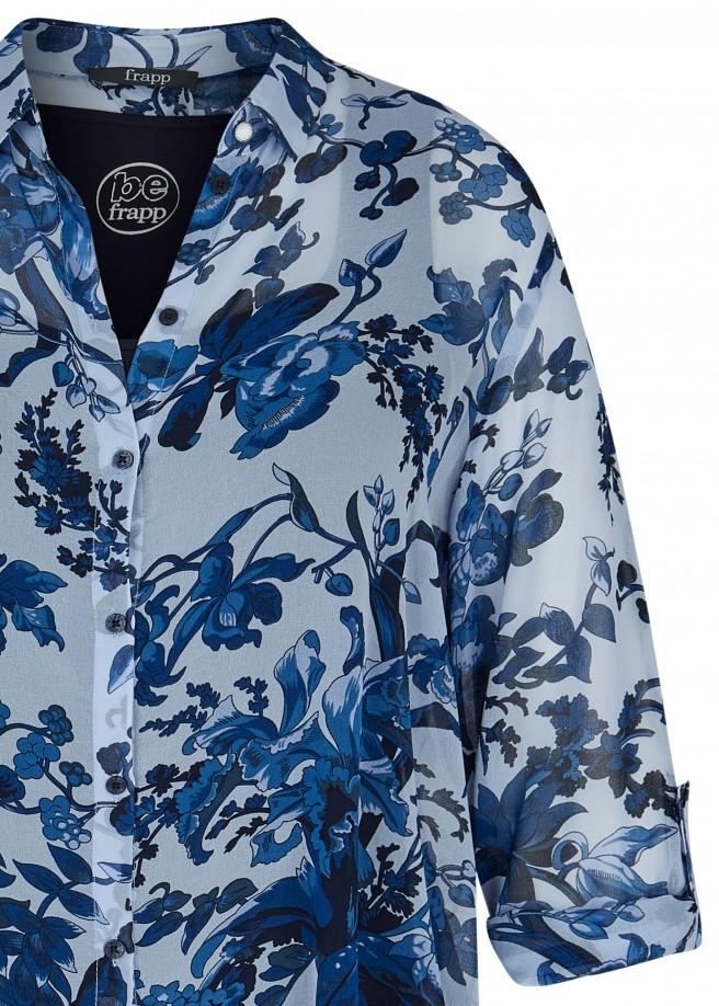 Elegante Hemdbluse mit geblümtem Muster /