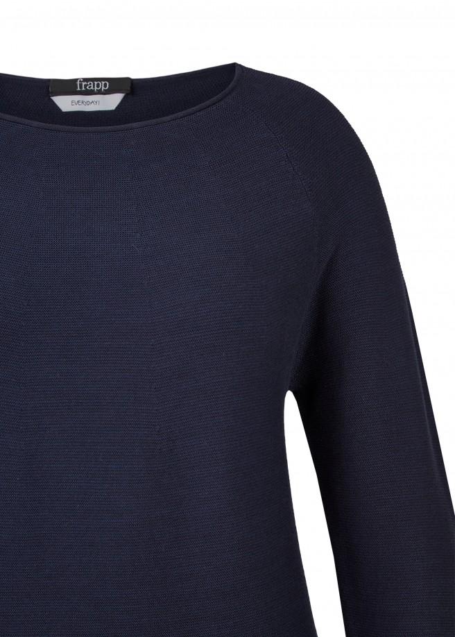 Trendiger Strick-Pullover mit Raglan-Ärmeln /