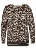Angesagter Jacquard-Pullover mit Leoparden-Muster /