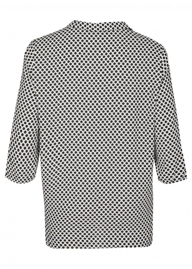 Extrovertierte Bluse mit Hemdblusenkragen /