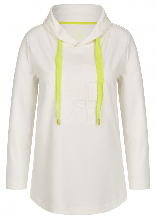 Unifarbenes Sweatshirt mit  Relief-Druck /