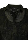 Two-in-One Chiffon Snake-Print-Kleid mit Unterkleid /