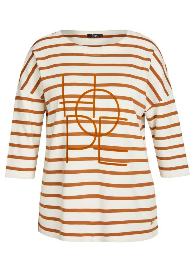 Ringel-Shirt mit Front-Motiv /