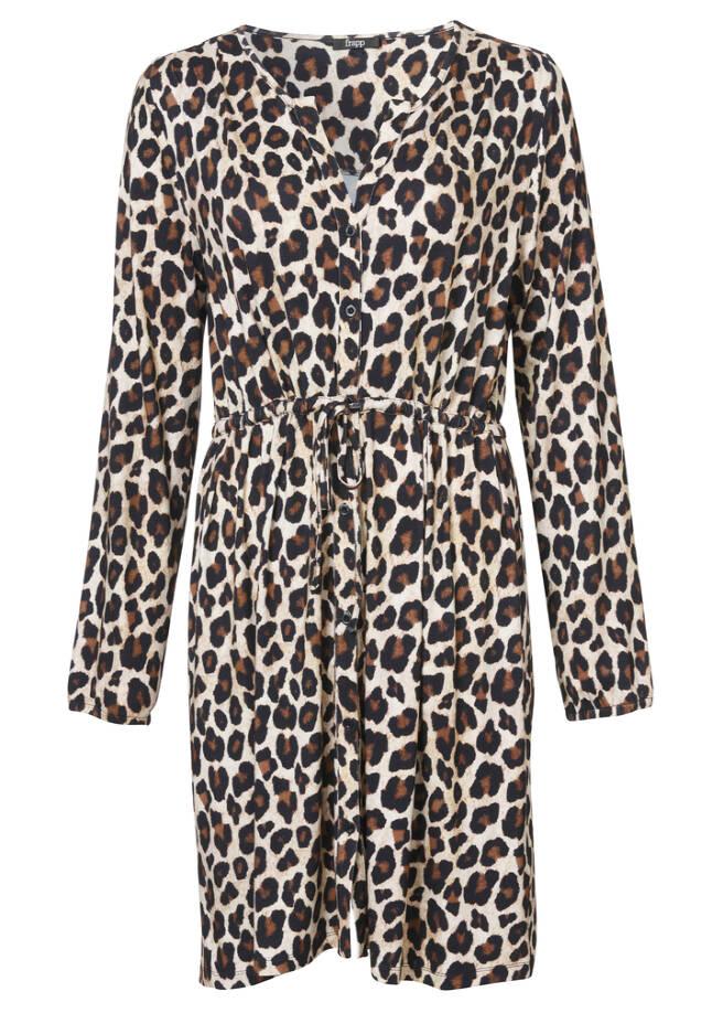 Extrovertiertes Blusenkleid mit Animalprint /