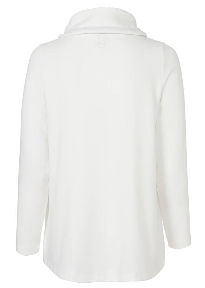 Sportives Sweatshirt mit Paspeln /