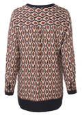 Moderne Tunika mit geometrischem Muster /