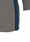 Modernes Hahnentritt-Shirt mit Galonstreifen /