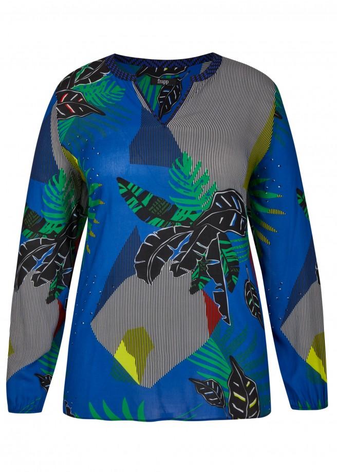Stilvolle Bluse mit floralem Mustermix /