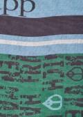 Femininer Fransen-Schal mit mehrfarbigen Mustermix /