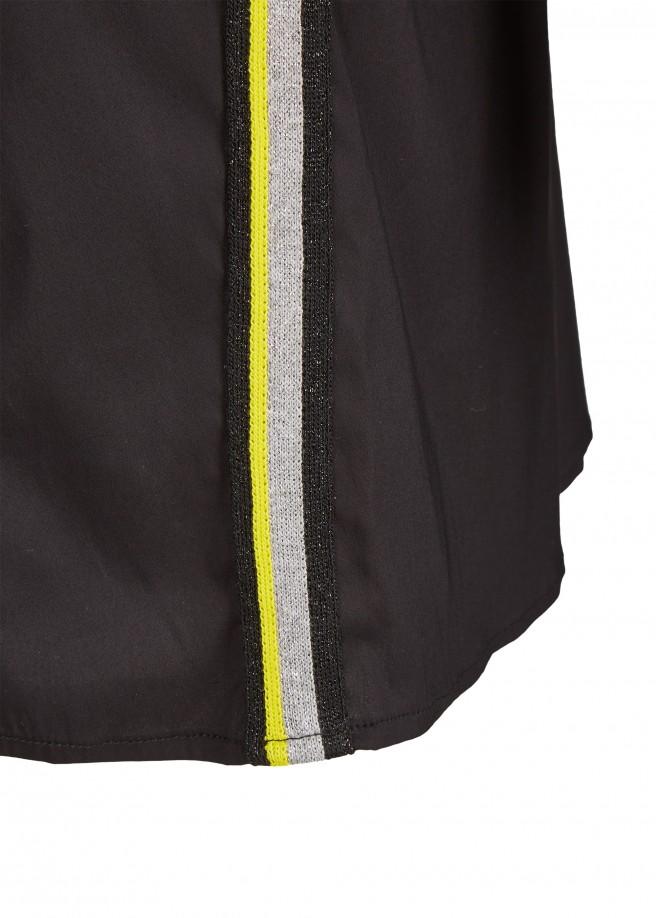 Stylisches Blusen-Kleid mit glitzernden Galonstreifen /