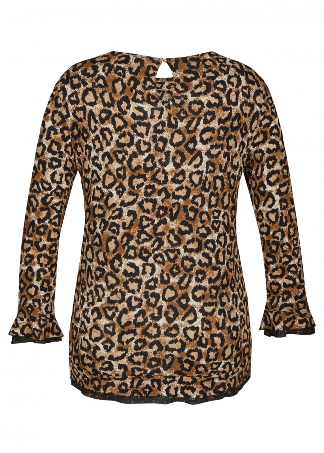Feminines Shirt im Animal-Stil /