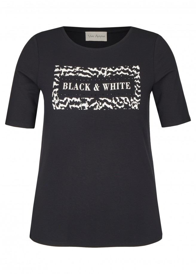 "Stylisches T-Shirt ""Black & White"" /"