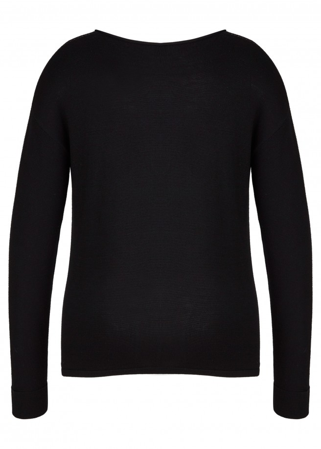 Cooler Pullover mit Jacquard-Muster /